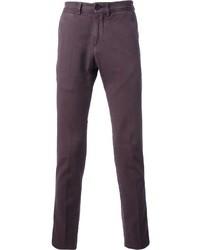 Pantalón de vestir en violeta de Brunello Cucinelli
