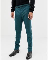 Pantalón de vestir estampado en verde azulado de Twisted Tailor