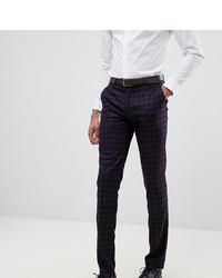 Pantalón de vestir estampado morado oscuro de Farah Smart