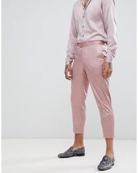 Pantalón de vestir estampado rosado de ASOS DESIGN
