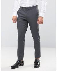 Pantalón de Vestir Gris Oscuro de Asos