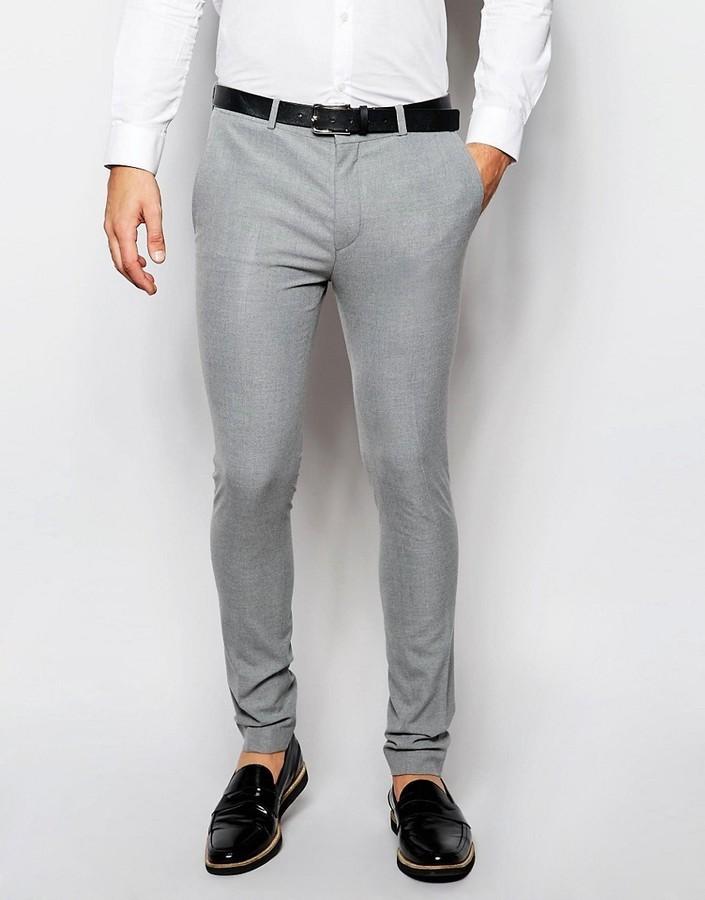 d674887fc05db ... Pantalón de vestir gris de Asos ...