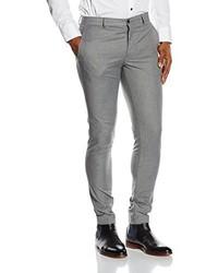 Pantalón de vestir gris de JACK & JONES PREMIUM