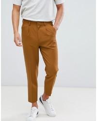 Pantalón de vestir marrón claro de ASOS DESIGN