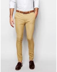 Pantalón de vestir marrón claro de Asos