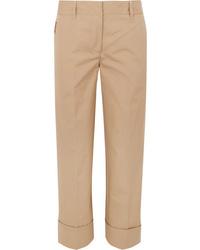 Pantalón de vestir marrón claro de Prada
