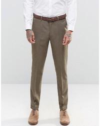 Pantalón de vestir marrón de Asos
