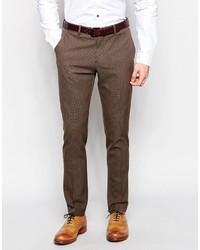 Pantalón de vestir marrón de Selected