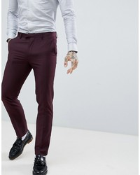 Pantalón de vestir morado oscuro de Harry Brown