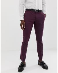 Pantalón de vestir morado oscuro de Selected Homme