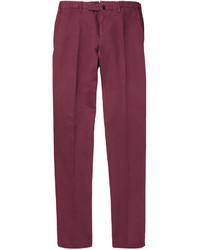 Pantalón de vestir morado de Incotex