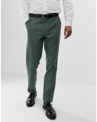 Pantalón de vestir verde oscuro de ASOS DESIGN