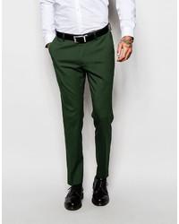 Pantalón de vestir verde oscuro de Asos