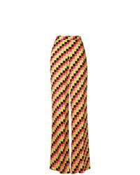 Pantalones anchos a cuadros en multicolor de Etro