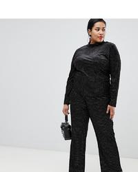 Pantalones anchos a lunares negros de Glamorous Curve