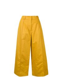 Pantalones anchos amarillos de Marni
