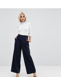 Pantalones anchos azul marino de Asos Petite
