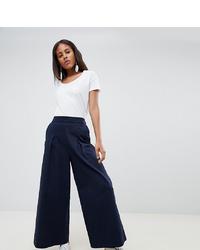 Pantalones anchos azul marino de ASOS WHITE