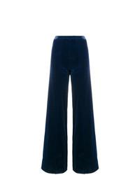 Pantalones anchos azul marino de Emanuel Ungaro Vintage