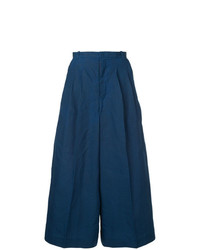Pantalones anchos azul marino de Facetasm