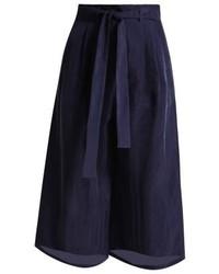 Pantalones anchos azul marino de Max Mara