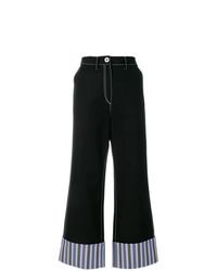 Pantalones anchos azul marino de Minki