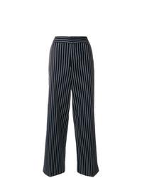 Pantalones anchos azul marino de Moncler
