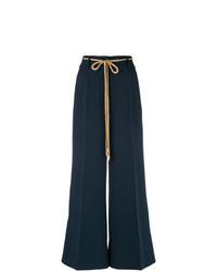 Pantalones anchos azul marino de Roksanda