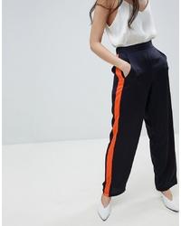 Pantalones anchos azul marino de Vila