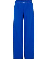 Pantalones anchos azules