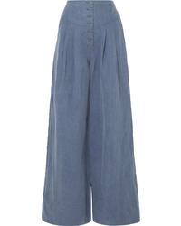 Pantalones anchos azules de Ulla Johnson