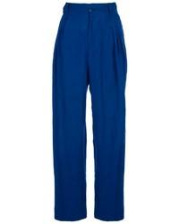 Pantalones anchos azules de Versace