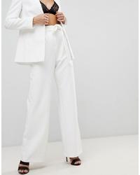 Pantalones anchos blancos de ASOS DESIGN