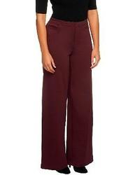 Pantalones anchos burdeos
