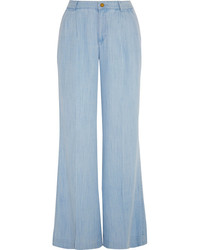 Pantalones anchos celestes