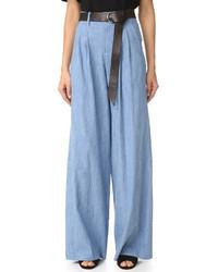 Pantalones anchos celestes de Alice + Olivia