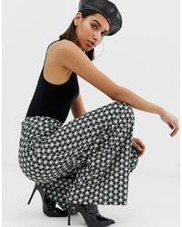 Pantalones anchos con estampado geométrico en multicolor de Missguided