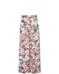 Pantalones anchos con print de flores en multicolor de Fleur Du Mal