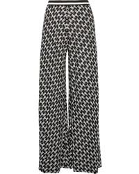 Pantalones anchos de crochet negros de Missoni