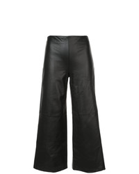 Pantalones anchos de cuero negros de Adam Lippes