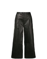 Pantalones anchos de cuero negros de Chalayan