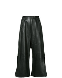 Pantalones anchos de cuero negros de Ellery