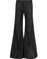 Pantalones anchos de cuero negros de Gareth Pugh
