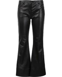 Pantalones anchos de cuero negros de Natasha Zinko