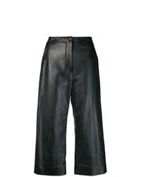 Pantalones anchos de cuero negros de Nehera
