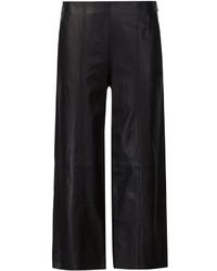 Pantalones anchos de cuero negros de Vince