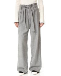 Pantalones anchos de lana grises de MSGM
