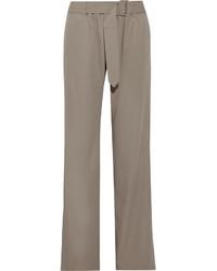 Pantalones anchos de lana grises de Tomas Maier