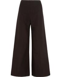 Pantalones anchos de lana negros de Isabel Marant