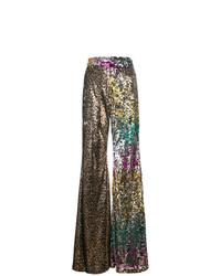 Pantalones anchos de lentejuelas dorados de Halpern